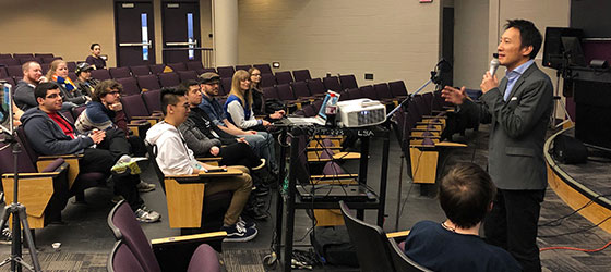 JLMI teacher Ishii taught a voice acting workshop for students of Western Michigan University on April 2nd, 2019.